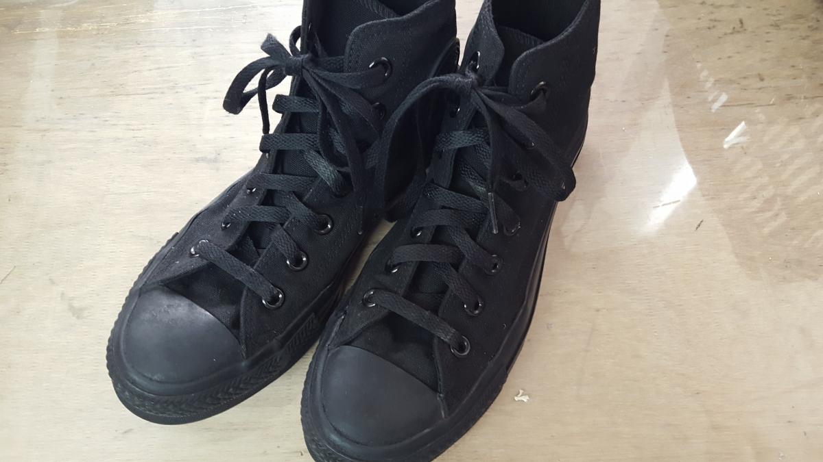 靴の黒染め