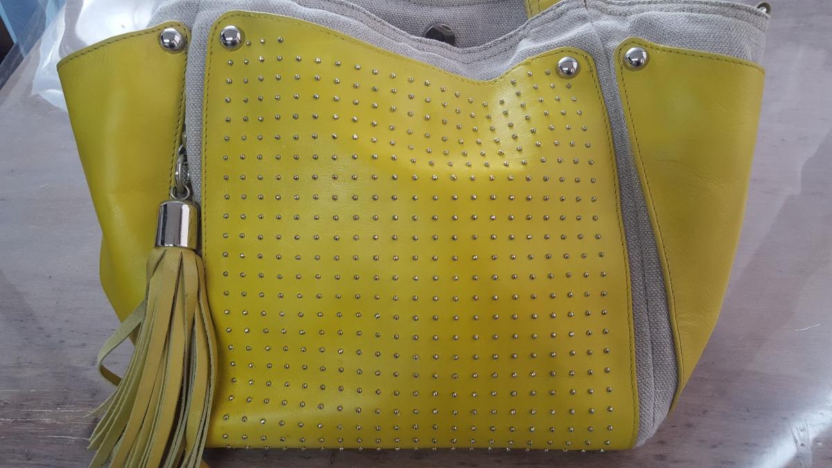 染め替え後の革バッグ