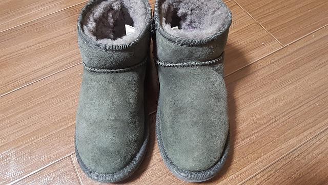 ブーツの色あせ