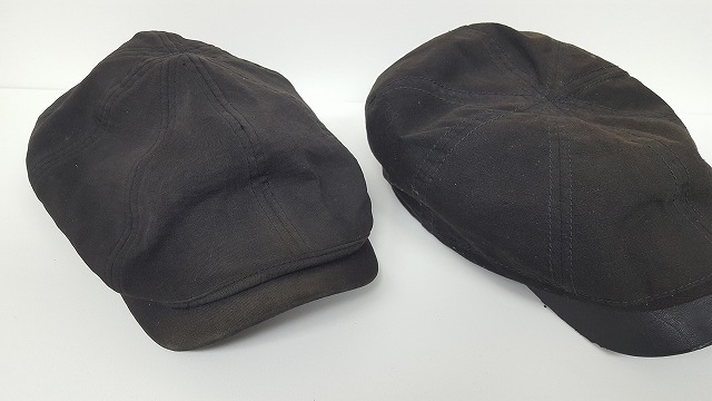 帽子の変色