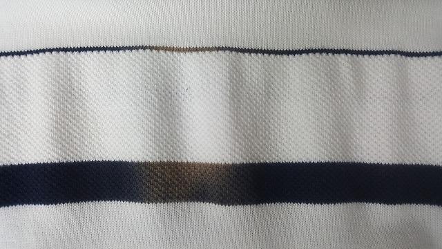 ポロシャツのシミ